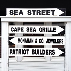 365 weekly theme, #36.7, iPhoneography (GmanViz) Tags: color 6x6 sign capecod arrows 36 week36 weeklytheme harwichport 365project gmanviz iphoneography iphone4s