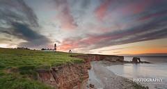 Jagged Edge ( Ian Flanagan) Tags: sunset sea sky cliff lighthouse seascape grass clouds photography coast arch coastal edge 5d canon5d fullframe filters northeast foghorn souter whitburn mk3 ndfilters canon5dmk3