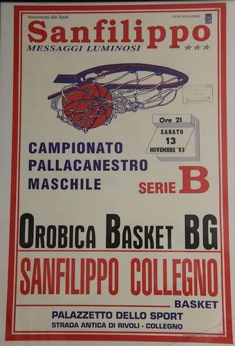 Manifesto Collegno Basket vs. Orobica Basket Bergamo - Serie B Maschile