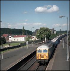 The New Breed (tatrakoda) Tags: uk england station train 35mm wagon geotagged br diesel britain engine railway loco brush lincolnshire coco analogue coal hopper haa lner gcr lcomotive barnetby class56 56076 mslr type5