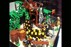 Working Water Feature- The Gold Mine (Thomas of Tortuga) Tags: water gold mine lego feature booyah landsofmythron