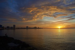 _DSC2793 (fotoliber) Tags: sunset sea sun sol water atardecer soleil mar agua eau cuba malecón lahabana d600