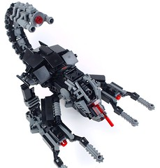 The Scorpions' Sting (top view) (END films) Tags: fiction brick animal robot cool lego mechanical films awesome tail contest battle science suit scorpion claw rawr end laser combat pilot claws mecha mech exo piloted