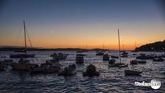 Sunset in Hvar (HR) (stefan.bauer) Tags: sunset sea moon boats croatia
