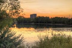 Sunset on Arkalyks lake (dyak_vg) Tags: sunset summer lake nikon asia nikkor kazakhstan sity hdr    arkalyk    af3570mmf3345  d3100