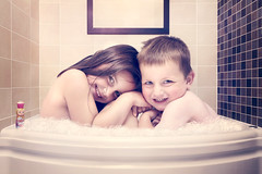 Family Bath Together Too big to bath together? (ksten) tags: family playing composite studio jack