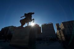 Spearman (adriangalli) Tags: chicago statue architecture nikon congresshotel bowman spearman 14mm