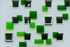 24/52 : Rennes - Green squares (Hervé Marchand) Tags: green window architecture details bretagne vert rennes fenetre urbain sooc 52weeksthe2015edition week242015 weekstartingthursdayjune112015
