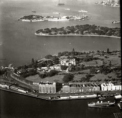 Government House Farm Cove & Garden Island - 16 June 1937 (Royal Australian Historical Society) Tags: rahs royal australian society adastra aerial photography government house curl ferry 1937 landscape