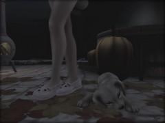 and I'd been working like a dog! (Morrigan Outlander) Tags: secondlife avatar sl virtual virtualworld night pretty cute dog puppy jian gacha reign maitreya whatnext gw moon animal pink slippers song music ipiccy pumpkins fall autumn fun moment