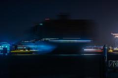 turn around in time (pbo31) Tags: california nikon d810 october fall 2016 bayarea night dark black boury pbo31 color portofoakland eastbay alamedacounty harbor port sail jacklondonsquare oakland container ship shipping lightstream motion motionblur turn tug push silhouette