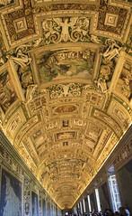 Paintings Everywhere (noname_clark) Tags: italy rome vacation honeymoon vatican museum hall long art