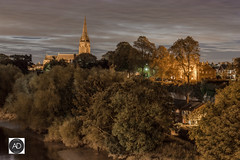 Chester Deelights (alun.disley@ntlworld.com) Tags: chester night longexposure trees grosvenorbridge nature church religion riverdee landscape clouds sky water weather houses cityscape cheshire england uk siltflats nightlights nikon d7100