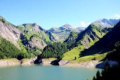 reservoir (-Mina-) Tags: switzerland schweiz ticino lake nature landscape mountains hike reservoir summer walking