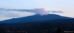 ETNA - first autumn's  hail and snow... (Alessandro Lo Piccolo Hollweger) Tags: etna volcano sicily hail snow sunrise cloud plume steam
