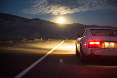 Hunter's Moon! (Shutter Theory) Tags: moon moonshine moonlit fullmoon z datsun nissan 240z s30 hwy136 inyomountains inyocounty owensvalley owenslake fromdeathvalleywithlove road getoutofthemiddleoftheroad getoutanddrive