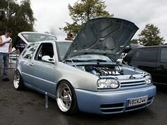 VW Golf 3 (911gt2rs) Tags: treffen meeting show event tuning tief low stance breit blau blue mk3 bodykit rabbit dub