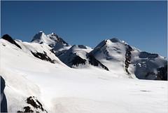 Climbing up to Breithorn. Castor & Pollux.A View from the Klein Matterhorn.No. 80. (Izakigur) Tags: zermatt izakigur castorpollux breithorn nikon d200 snow switzerland schweiz wallis alps fixyou nikond200 nikkor1755f28