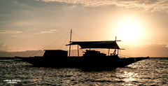 Fisherman at Sunset (vincent.lecolley) Tags: sunset asia philippines fisherman sea ocean beach water