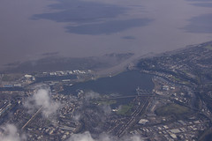 Cardiff Bay from the plane window (Dai Lygad) Tags: dailygad jeremysegrott segrott jeremy caerdydd caerdyddwales photo picture image photograph flickr camera photography amateurphotography photos photographs images pictures wales cymru britain