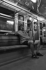 Miradas subterrneas (dul_conte) Tags: buenosaires noiretblanc philippedulauroy blackandwhite blancoynegro argentina argentine expoalberdi portrait subte underground