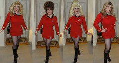 Trying different wigs! (rgaines) Tags: costume cosplay crossplay drag startrek tos dragqueens halloween highheelrace kirk spock funny humor election yeomanjanicerand
