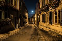 Moon Street (DeGrandDuke) Tags: nacht 24mm d750 strasse aussen walimex rodemack mond langzeitbelichtung frankreich night nikon longexposure france lorraine street outdoor dark moon houses old