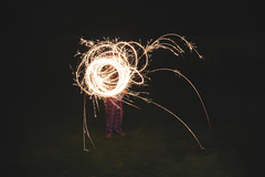 (Paul J's) Tags: fireworks sparklers night longexposure birthdayparty