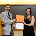 Associate Professor Robert Wickesberg, Emily Hankosky: Department of Psychology Award for Excellence in Teaching by a Graduate Student Recipient not pictured: Seong Hee Cho