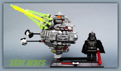 Star wars Death Star (peter-ray) Tags: star wars death peter ray lego moc afol micro scale space ship war morte nera dart fener vader shi fi mini figure