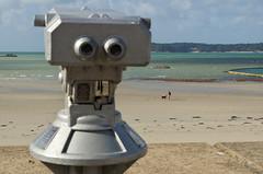 Walking the dog at St Helier (Cross Duck) Tags: sthelier channelislands jersey dog dogwalking beach seaside seascape sea telescope