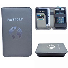 Phone Charging Passport Holder Travel Case w/ Power Bank- iPhone, Galaxy & More (wupplestravel) Tags: bank case charging galaxy holder iphone more passport phone power travel