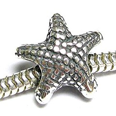 Sterling Silver Starfish Star Fish Focal Bead Charm For Pandora European Charm Bracelets (goodies2get2) Tags: amazoncom bestsellers sterlingsilver toprated under25