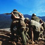 Vietnam War 1968 - American Marines on Site near Outpost - Photo by Shunsuke Akatsuka thumbnail