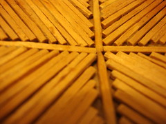 Craft Project Macro. (dccradio) Tags: lumberton nc northcarolina robesoncounty matchsticks wood craftproject macro blur blurred blurry matches