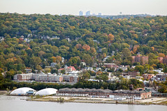 IMG_9492 (dougschneiderphoto) Tags: fall autumn usa ny newyork westchester county view vista rivertowns hudson river across hastingsonhudson hastings waterfront village palisadesinterstatepark statelinelookout building52 bp arco factory brownfield building 52 anacondawireandcablecompany anaconda