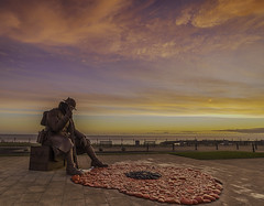 Tommy at Sunrise (Alex365pix) Tags: memorial tommy seaham coast poppies sunrise remembrance sunday