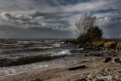 IJsselmeer (josreimering1) Tags: ijsselmeer lake meer strand beach urk noordoostpolder dark sky clouds wolken