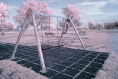 Sweet Swing (Athrandel) Tags: infrared ir infra red sky skies landscape land landscapes park tree trees nature cloud clouds