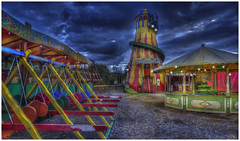 Black Country Fairground (Darwinsgift) Tags: black country living museum fairground dudley birmingham vintage hdr photomatix photoshop vibrant night nikon d810 voigtlander 20mm f35 color skopar sl ii