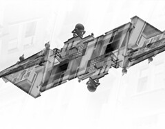 PLV I (Sju ND) Tags: bw blackandwhite film photography double exposure canon kodak architecture plovdiv abstract