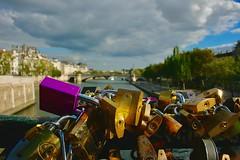 Love lock bridge (Jamie Kerr) Tags: takemeback adventure explore outdoors photography travel tourism key locked river lockbridge lovelockbridge english french bilingual voyage trip exchange europe france paris