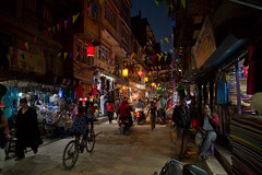 Street lanterns in Thamel Kathmandu