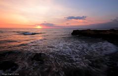 Sicilian sunset 02 (- Crupi Giorgio (official)) Tags: italy sicily ragusa sea sky sun reef clouds sunset seascape landscape calm relax canon canoneos7d sigma nd1000 1020 mm