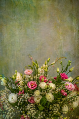 Pinks and white still life (photoart33) Tags: stilllife flowers floral gaura gypsohilplia pink white textured