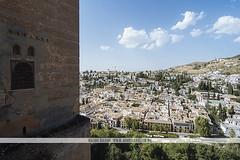 Alhambra - Granada, Spain (Naomi Rahim (thanks for 2 million hits)) Tags: granada spain andalusia espaa europe europa 2016 travelphotography travel nikon nikond7200 architecture alhambra palace unesco wanderlust arabian moors moorish pretty landscape sky bluesky hill clouds view 1116mm