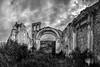 Pieve Abbandonata di San Martino in Grania (SI) (Giulio Mazzini) Tags: urbex chiesa church abandoned rudere old medioeval bell arch crete senesi siena tuscany italy hill countryside fineart bn bw