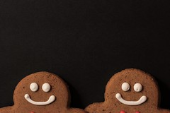 Two Smiling Faces... (catherine4077) Tags: christmas december 2016 gingerbread gingerbreadmen sweet cookies