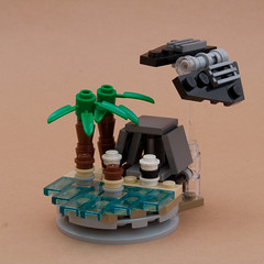 Attack on Scarif - Christmas Ornament (Boba-1980) Tags: christmas ornaments baubles lego moc micro ids boba1980 starwars scarif tie tiestriker rougeone rouge one advent