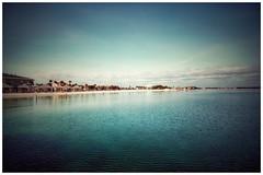 The Vastness of Blue (thegoreyend) Tags: serene calm vastness vista vast snapseed sky blue beach coastline pensacolabay water pensacolabeach florida